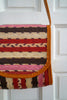 Vintage Striped Red and Pink Straw Crossover Bag