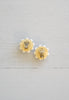 Chic Vintage Hawaiian Full Moon Shell Cluster Clip-On Earrings