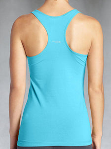 RACER BACK BLUE – Women's Organic Tops and Tees - WEARORGANIC Australia