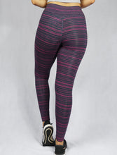 STRIPED SENSATION Fuchsia Women's F/L Legging - WEARORGANIC Australia