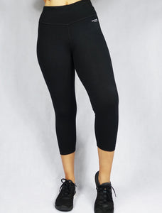 Women's organic Black Crop Legging - WEARORGANIC Australia