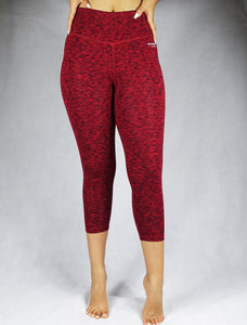 FIERY FURY red - Women's organic Crop Legging - WEARORGANIC Australia