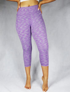 SUMMIT Purple Lilac Women's organic Crop Legging-WEARORGANIC Australia