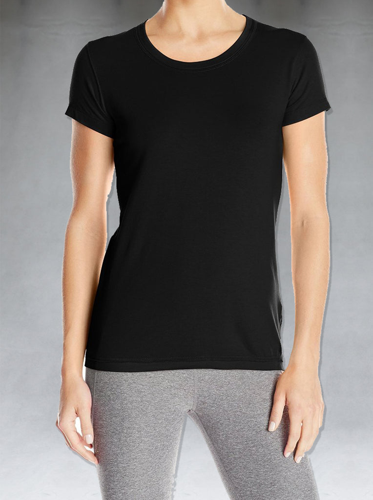 Our round neck tees are cut for a bodycon fit to follow the contours of the body. Pure Bamboo cotton blend is both light and comfortable and feels luxuriously soft on the skin. Odour resistance makes it very user-friendly.