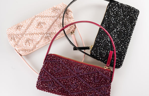 LILA Beaded Purse