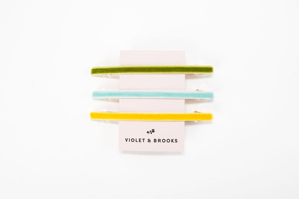 VIOLA Hair Barrette Trio