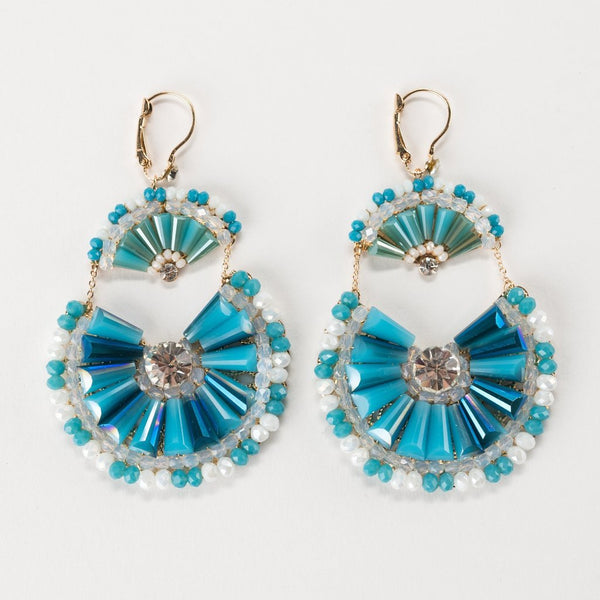 We Love Mom! <br/> Chandelier Earrings & Champagne Flutes