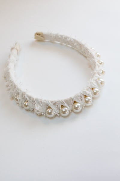 AUDREY Wrapped Pearl Headband