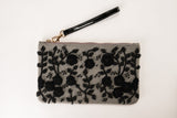 MAISIE Grey Clutch