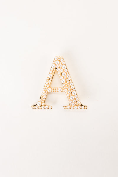 PEARL LETTER Brooch