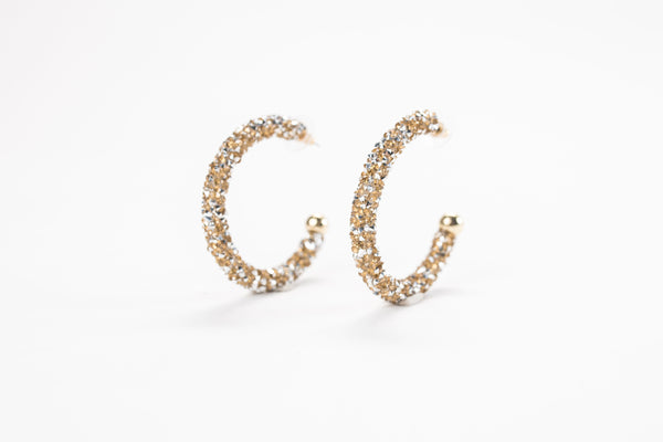 GLORIA Glitter Hoop Earrings