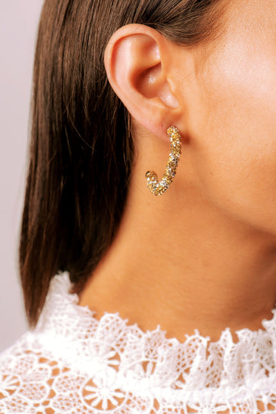 GLORIA Glitter Hoop Earrings Petite