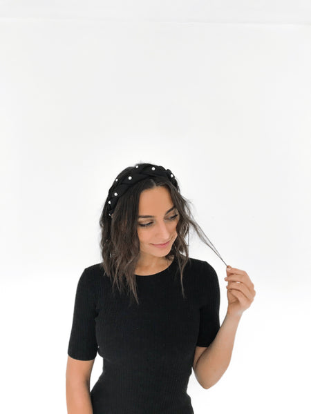 CATHERINE Braided Satin Headband