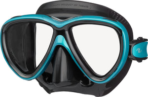 Tusa Freedom One Mask - Ocean Green with Black Silicone Mask Skirt
