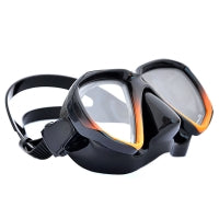 Apollo SV-2 Pro Mask. Orange with black silicone skirt