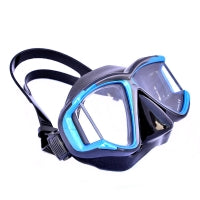 Apollo SV-4 Mask. Blue with black silicone mask skirt