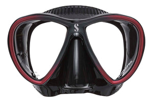 Scubapro Synergy Twin Mask Red with Black Silicone