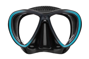 Scubapro Synergy Twin Mask Turquoise with Black Silicone