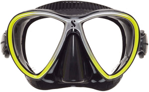 Scubapro Synergy Twin Mask Yellow with Black Silicone