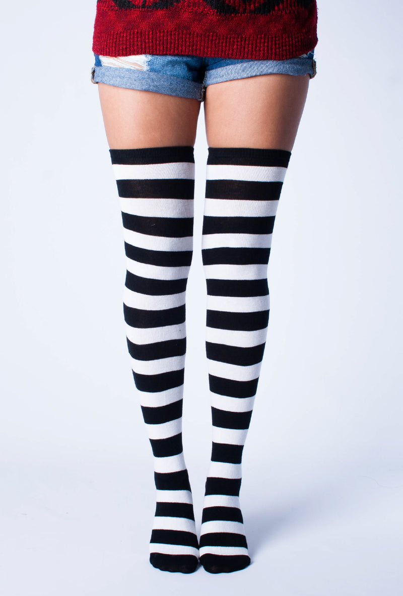 2-Pack Thigh High Socks | Love Classic