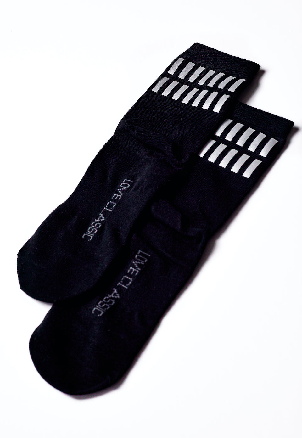 Reflective Athletic Crew Socks | Love Classic