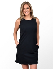 Belmont Shift Dress in Black