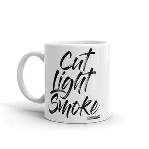 """Cut Light Smoke"" Mug (White)"