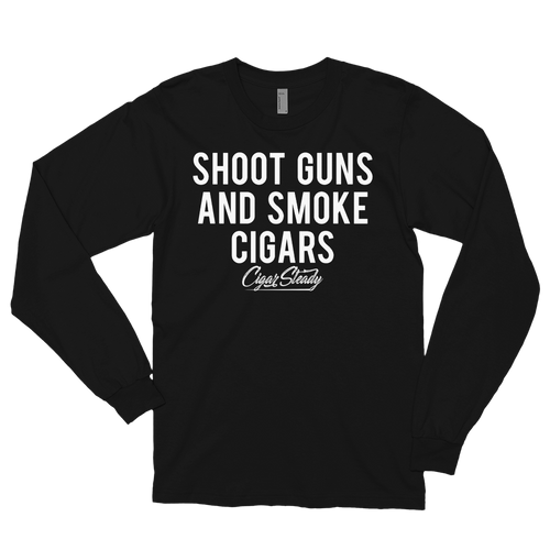 "Men's ""Shoot Guns"" Long sleeve t-shirt (Black)"