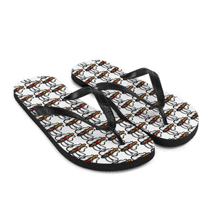 """Lit Ones"" Flip-Flops (White)"