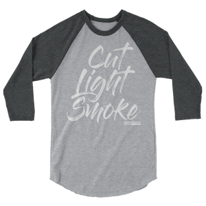 "Men's ""Cut Light Smoke"" 3/4 sleeve raglan shirt (More Options)"