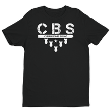 """CBS""  Premium Fitted Short Sleeve Crew with Tear Away Label"