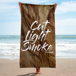 """Cut Light Smoke"" Beach Towel"