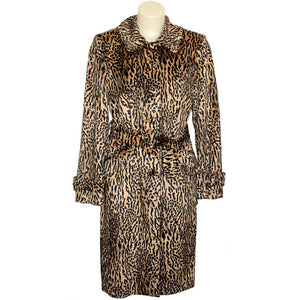'DUSK' ANIMAL FUR TRENCH COAT