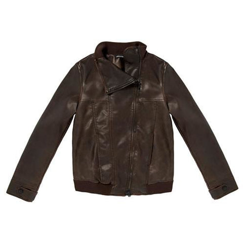 PENNY BLACK  BROWN LEATHER LOOK COAT