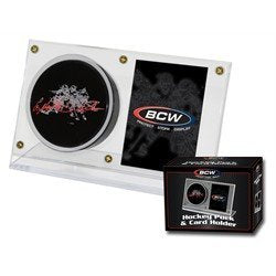 BCW Hockey Puck and Trading Card Holder