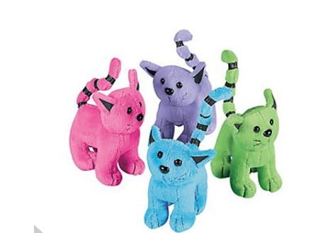 Assorted Plush Cats (1 dozen) - Bulk