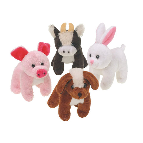 U.S. Toy SB543 Assorted Plush Stuffed Farm Animals (Pack of 12)