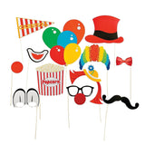 Fun Express Paper Carnival Photo Booth Stick Props