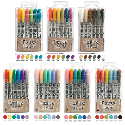 Ranger Tim Holtz 42 Distress Crayons Sets 1,2,3,4,5,6,7