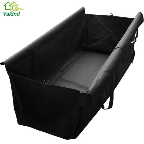 Large Black Oxford Hammock TravelDog Waterproof Bench Seat Cover Protector for Pets