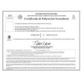 Certificados de Escuela Secundaria - FIRST STEP TRANSLATIONS CORPORATION