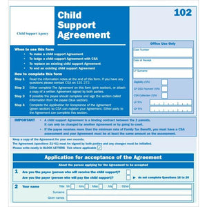 Child Support Agreement - FIRST STEP TRANSLATIONS CORPORATION
