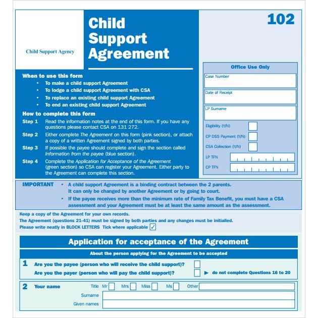 Translation of Child Support Agreement - FIRST STEP TRANSLATIONS CORPORATION