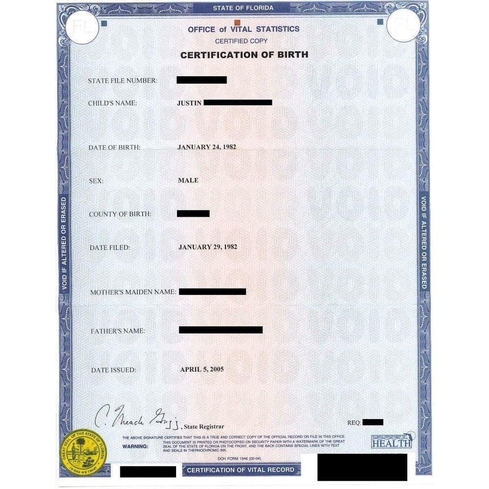 Birth Certificates - FIRST STEP TRANSLATIONS CORPORATION