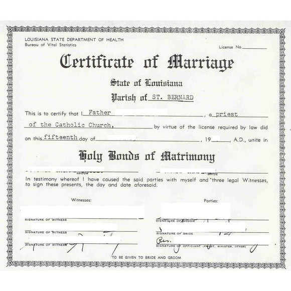 Marriage Certificates - FIRST STEP TRANSLATIONS CORPORATION