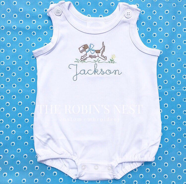 Monogrammed Boys Bubble | Monogrammed Baby Boy Bubble