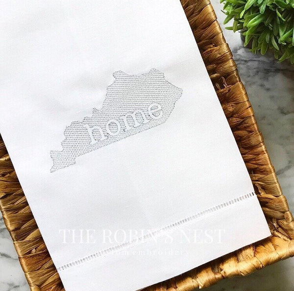 Home State Tea Towel  Linen | Guest Towel Linen | Housewarming Gift | Louisiana Tea Towel | State of Louisiana | All 50 states available!!!!