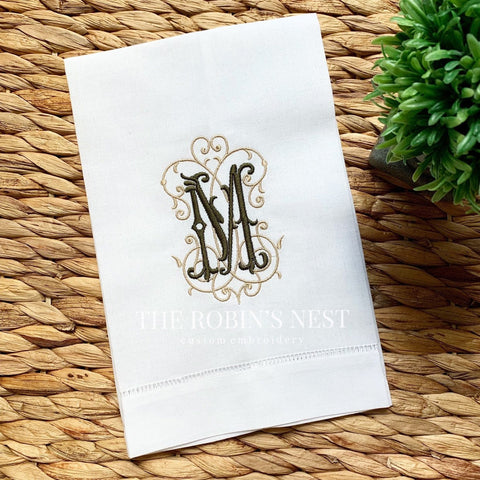Linen Guest Towels The Robin S Nest Embroidery