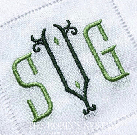 Cocktail Napkins Embroidered Monogrammed