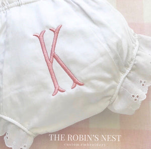 Monogrammed Diaper Cover Bloomers